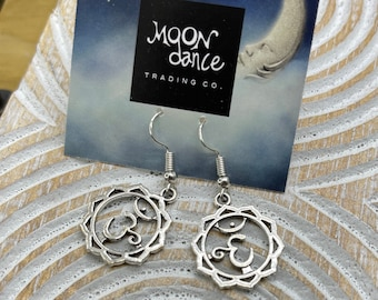 Om Earrings Lotus Jewelry Buddha Earrings Yoga Jewelry Namaste Hamsa Hand Earrings Evil Eye Earrings Yoga Gift Dangle Earrings