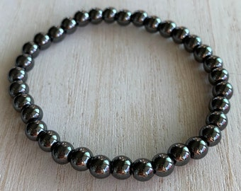 Hematite Healing Crystal Bead Bracelet