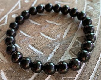Shungite Healing Crystal Bead Bracelet
