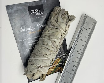 White Sage, White Sage and Smudge Prayer, Sage Smudge, cleansing, protection, good vibes kit
