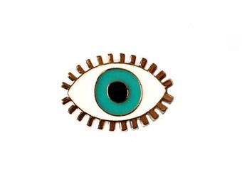Evil Eye Pin, Evil Eye Enamel Pin, Good Luck Pin