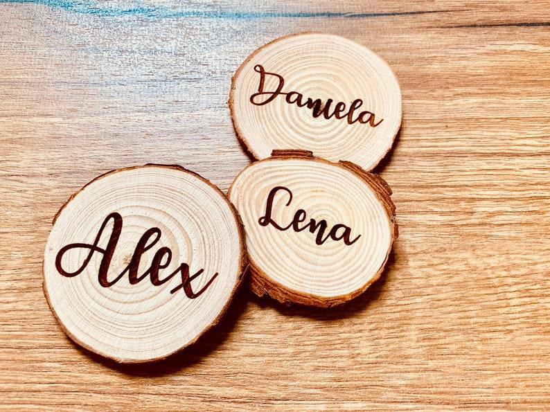Holz Tischkarten Hochzeit