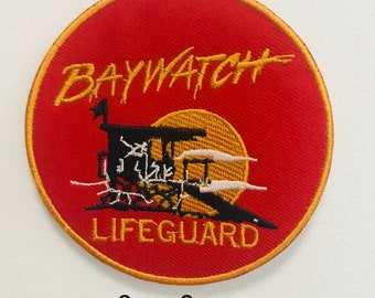 92d82374803e Baywatch Swimsuit Lifeguard Logo iron sew on Embroidery Patch