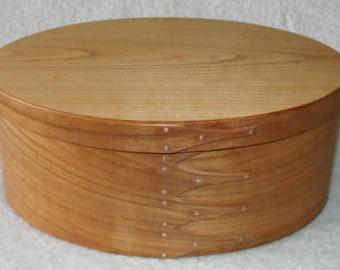 Shaker Oval Box No.8 European Cherry Tree