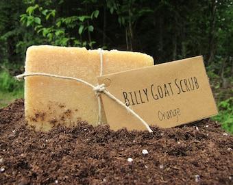 Handmade Orange Billy Goat Scrub