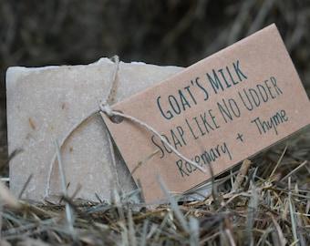 Handmade Rosemary + Thyme Goat's Milk Soap Like No Udder