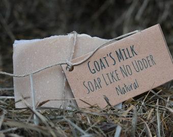 Handmade Natural (Unscented) Goat's Milk Soap Like No Udder