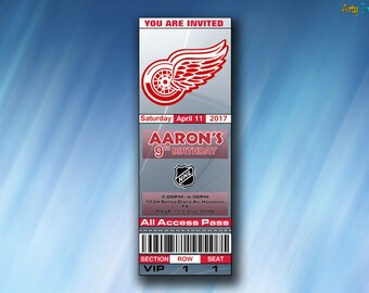 photo relating to Printable Red Wings Schedule known as Detroit pink wings Etsy