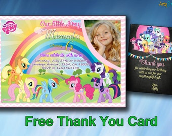 picture about My Little Pony Invitations Free Printable identified as Very little pony invite Etsy