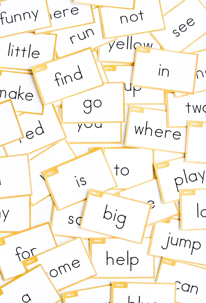 photograph about Sight Words Printable named Sight Words and phrases Printable Courses - Sight Phrase Flashcards - Sight Term Worksheets - Preschool - Kindergarten - Homeschool Products - Montessori