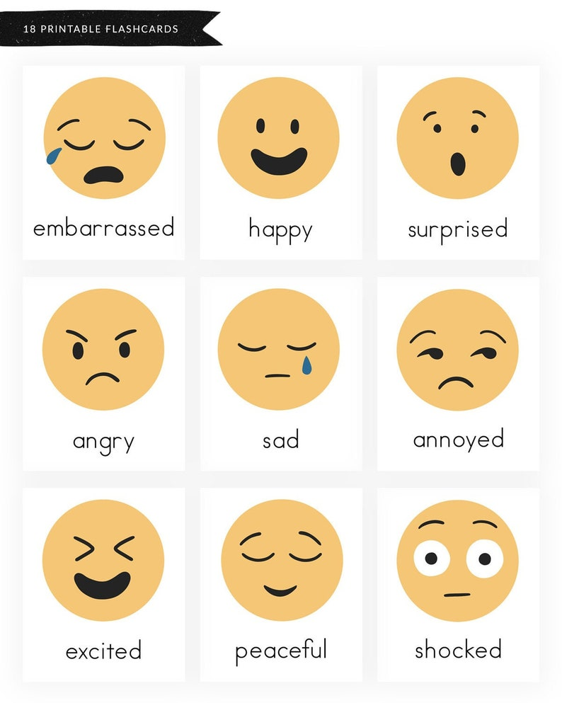 graphic about Emoji Feelings Printable identify Thoughts and Emotions - Printable Worksheets - Feelings Flashcards - Inner thoughts Flashcards - Emoji Flashcards - Preschool - Kindergarten