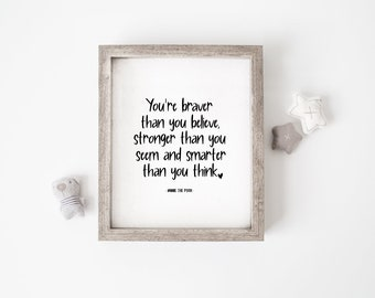 KENYG You are Braver Than You Believe Stronger Than You Seem and Smarter Than You Think Stainless Steel Bracelet Bangle