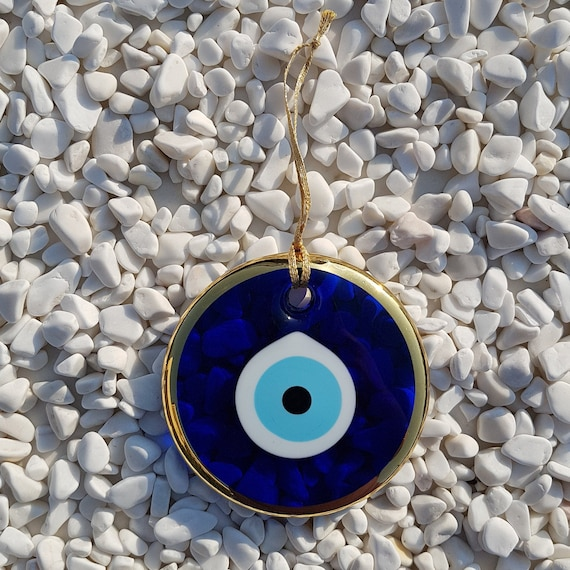 Golden Evil Eye 11 cm Wall Hanging Nazar Boncuk Turkish  bc81dc3df