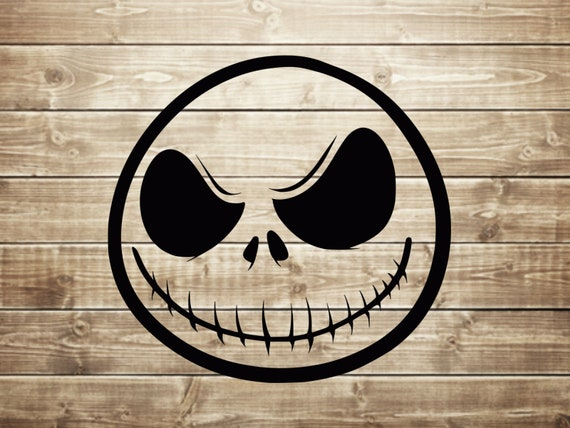 Jack Skellington Face The Nightmare Before Christmas Disney Etsy