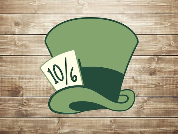 Mad Hatter Hat Svg Alice In Wonderland Svg Cutting Files For Etsy