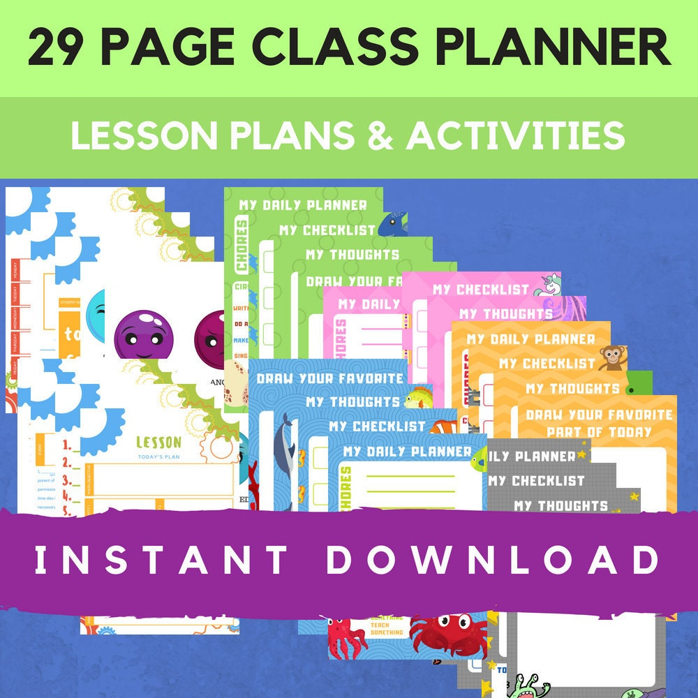Lesson plan template, kids activities, daycare planner, Dinosaur, Princess,  Jungle, Space, Ocean, themed daycare, preschool, elementary kids