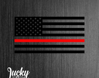 3ab3f673afa Thin red line / Firefighter decal