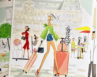 The girl at Saint Lazare- expo Paris 9 -Numbered print signed limited edition