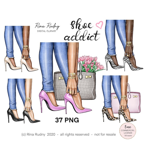 Fashion shoes clipart, high heels clipart, woman shoes clipart, jeans shoes clipart, leopard shoes,fashion bag ,luxury, glam,jewelry clipart