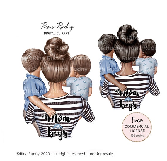 Mother's Day clipart, mom and son clipart, Baby clipart, mom of boys clipart, mommy clipart, parents clipart, children clipart, parents,