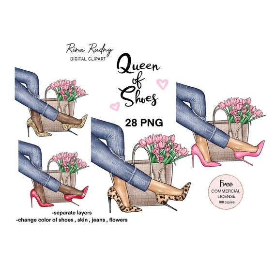 Shoes clipart, spring clipart, bags clipart , high heels shoes, fashion clipart , glamorous clipart , beauty clip art , jeans clipart