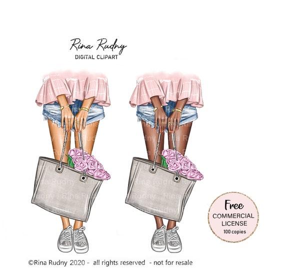 Fashion Clipart Bag Clipart Fashionista Clipart Summer Etsy