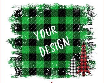 Green Buffalo Plaid, Christmas Sublimation Background, Commercial Use, Christmas PNG Sublimation Download, Distressed Plaid Backsplash