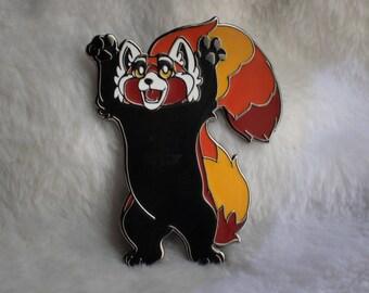 Sakura Red Panda Enamel Pin