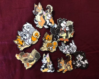 Fursona Pin Dog Kickstarter Full Set