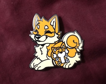 Fursona Pin Dog Kickstarter Shiba Inu Limited Edition