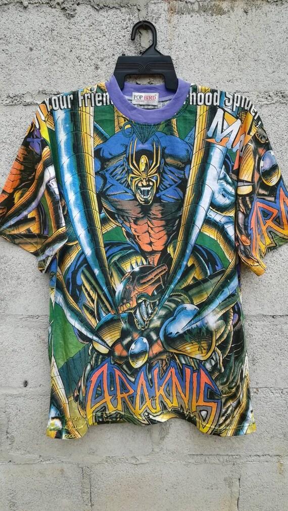 Araknis Tshirt Vintage 90 Mushroom Comic Edition Shade If Evil