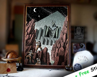 The Ancient God | Visual Art | Contemporary Art | Modern Art | Psychedelic Art Print | Modern Art Print | Print Art Gift