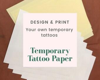 Tattoo Paper Etsy