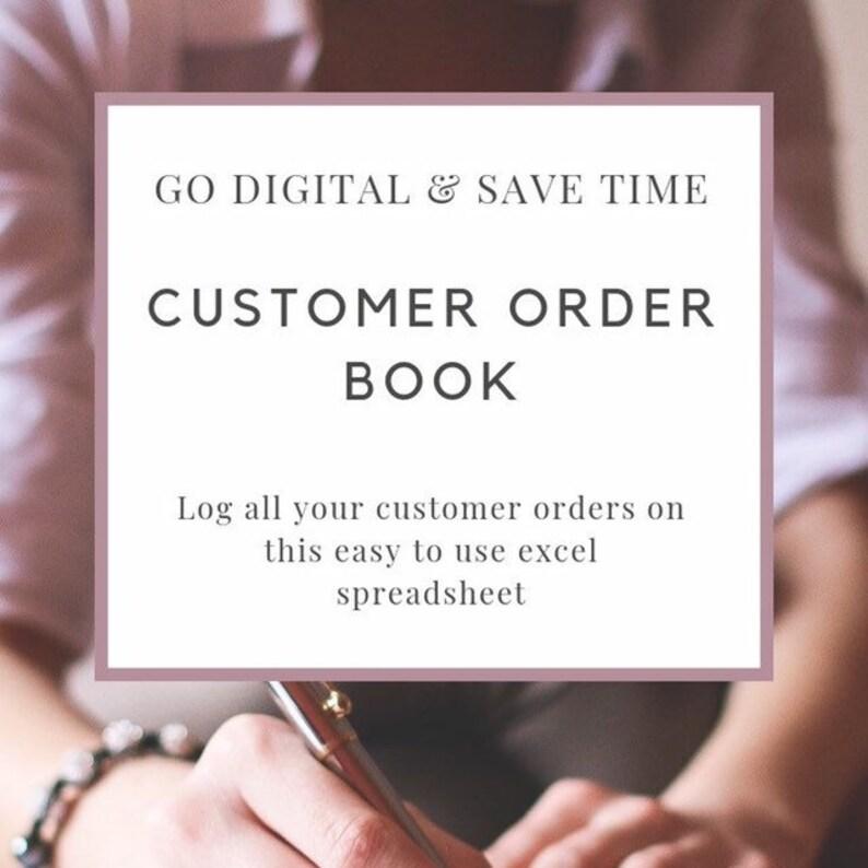 Customer Order Book – Etsy Shop Tracker - Excel Digital Template – Business  Planner – Home Business Organisation – Digital Download