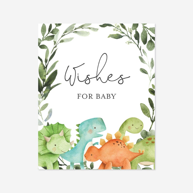 BB5 Dinosaur Baby Shower Wishes For Baby Instant Download Dinosaur Baby Shower Games Wishes Card Templett Dinosaur Wishes For Baby