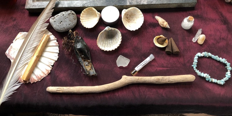 Sea Witch Kit Altar Kit Water Element Pagan Witchcraft image 0