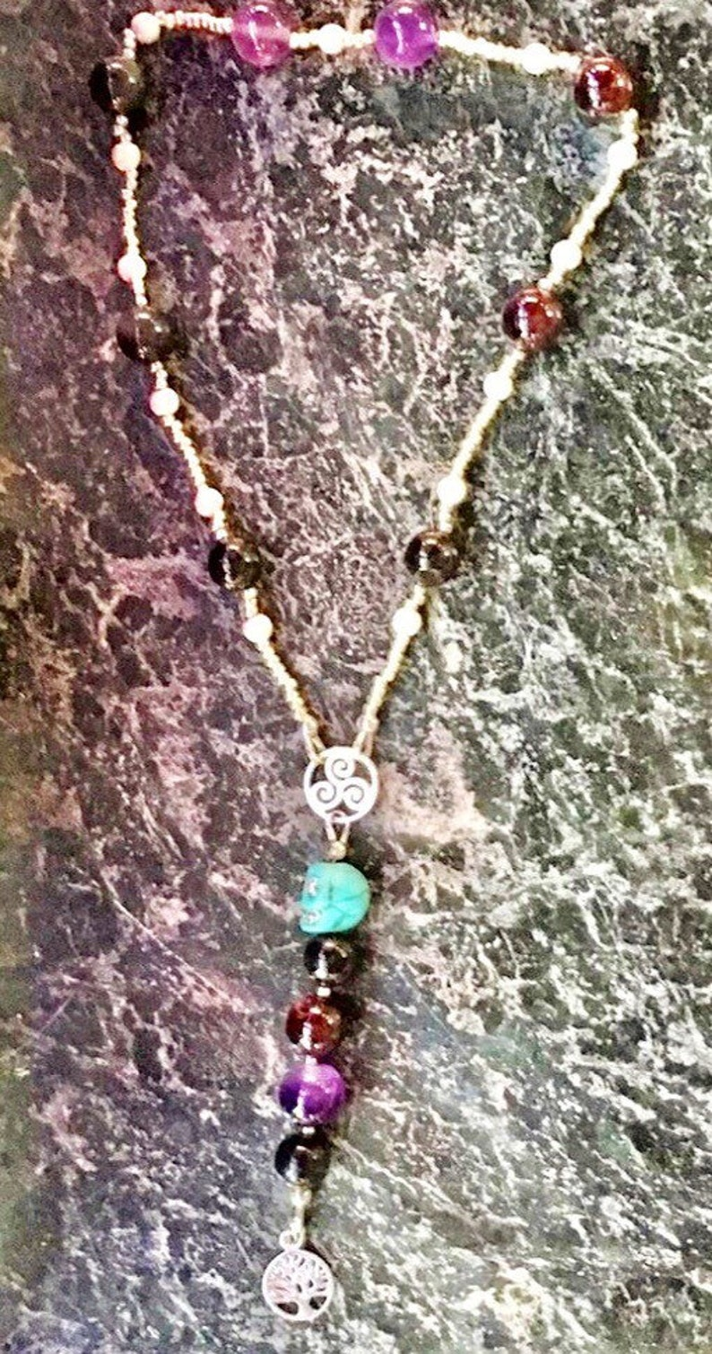 Powerful Witches Spell Beads Sterling Silver Gemstone Gift image 0
