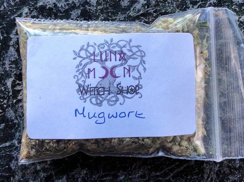 Mugwort Dried Herb Wormswort Black Sage Pagan Wiccan image 0