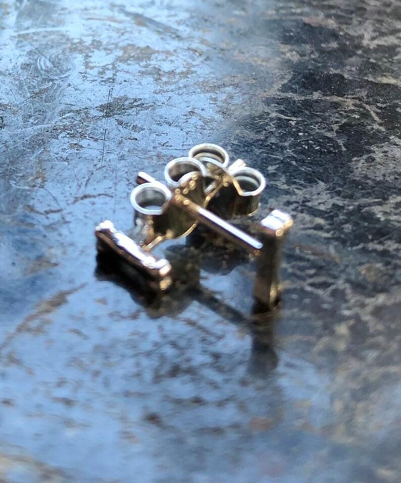 Bone Earrings Sterling Silver Earrings Dog Bone Earrings image 0