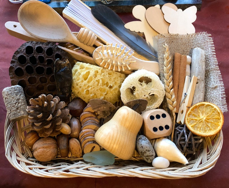 Delux Heuristic Play Basket Montessori Nature Inspired image 0