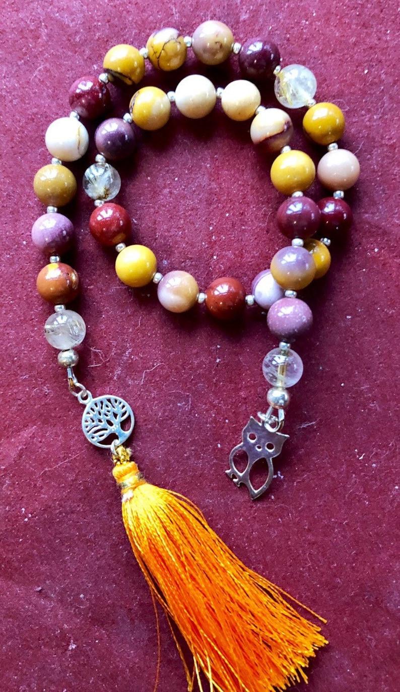 Pagan Prayer Beads Witches Rosary Mala Pagan Witchcraft image 0