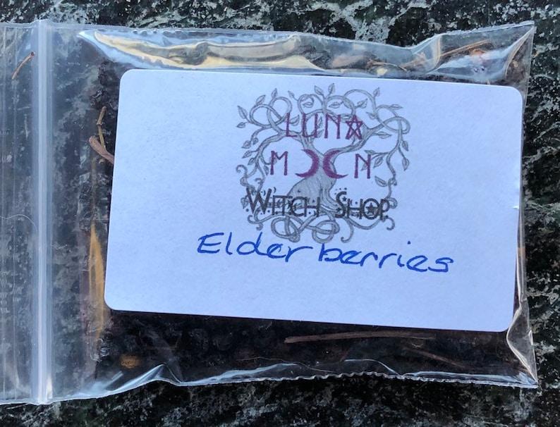 Elderberries Dried Herbs Protection Exorcism Healing image 0