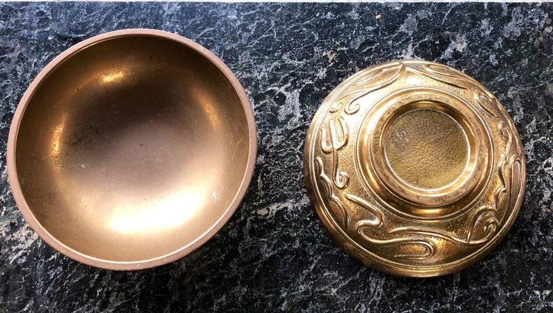 Vintage Brass Altar Offering Dish Offering Bowl Trinket image 0