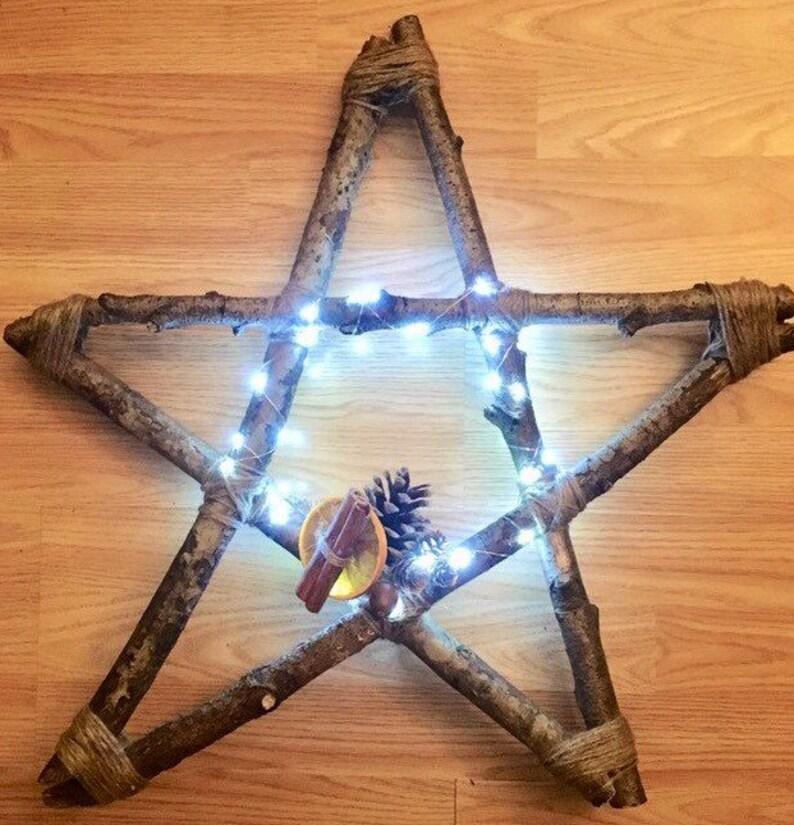 Large Pentagram Home Decor Witchy Star Decor Pagan image 0