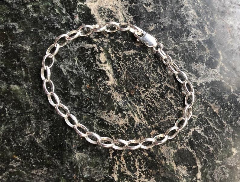 Sterling Silver Charm Bracelet Friendship Love Ideal For image 0