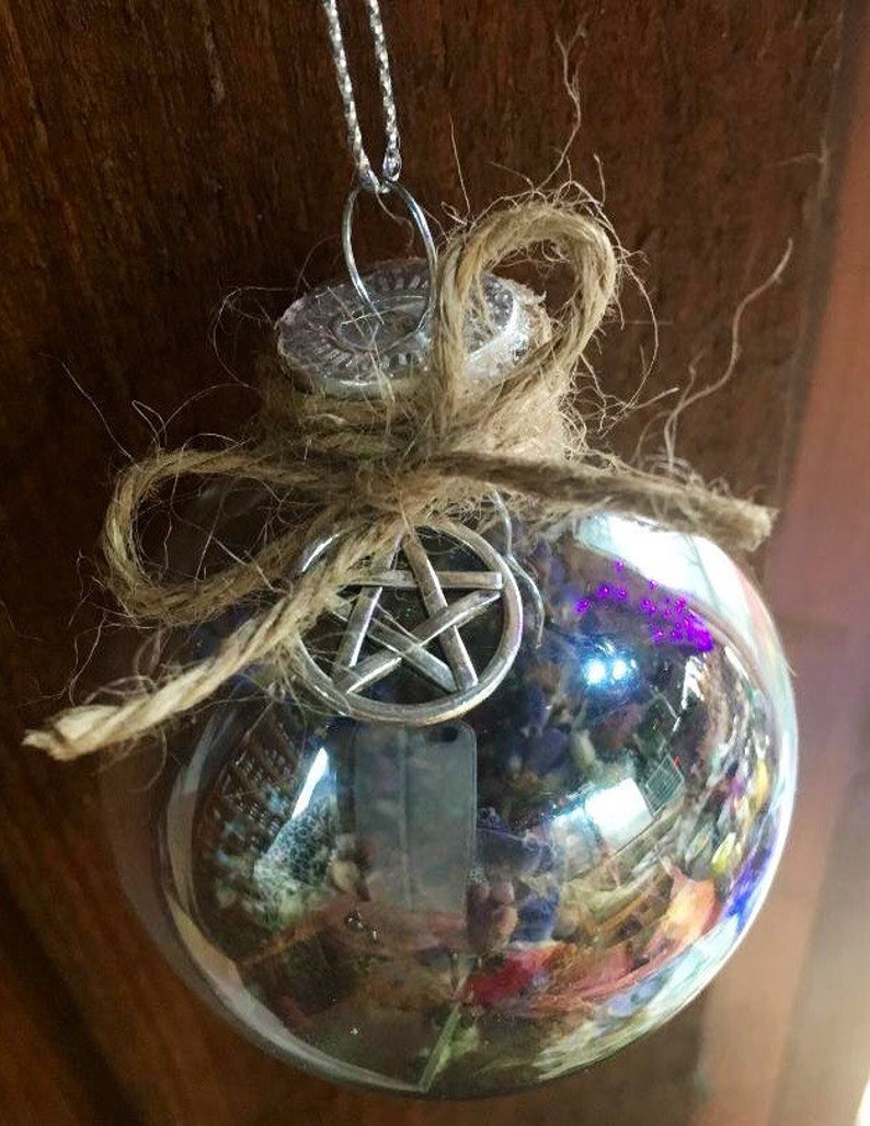Witch Ball Blessing Ball Prosperity Ornament Pagan Wiccan image 0