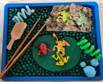 Tinker Tray 5 Little Speckled Frogs Sensory Play, Heuristic Play, Montessori, Loose Parts, Pagan, Reggio Emilia, Ideal Gift