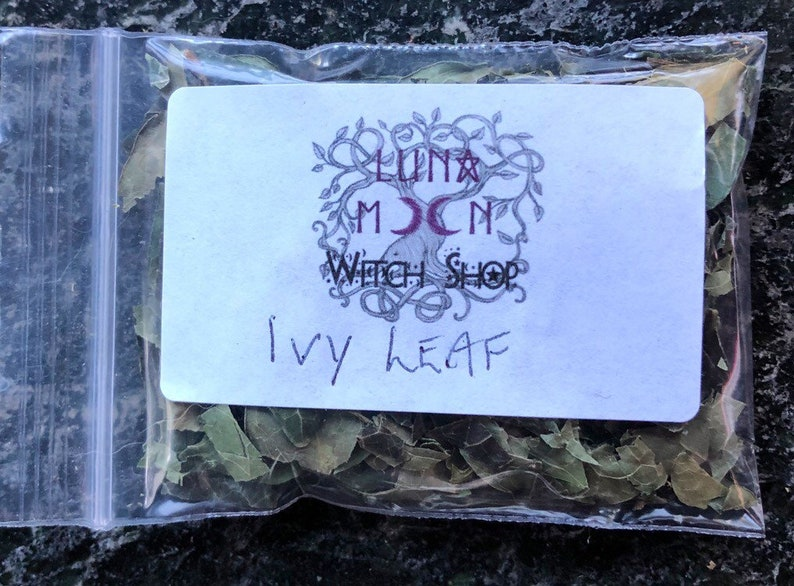 Ivy Leaf, Dried Herbs - Protection, Good Luck, Pagan, Witchcraft, Incense,  Apothecary