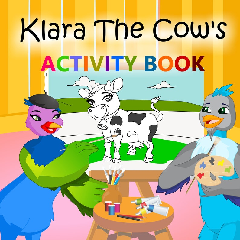 Klara The Cow's Activity Book: Coloring Stickers Dot to image 0