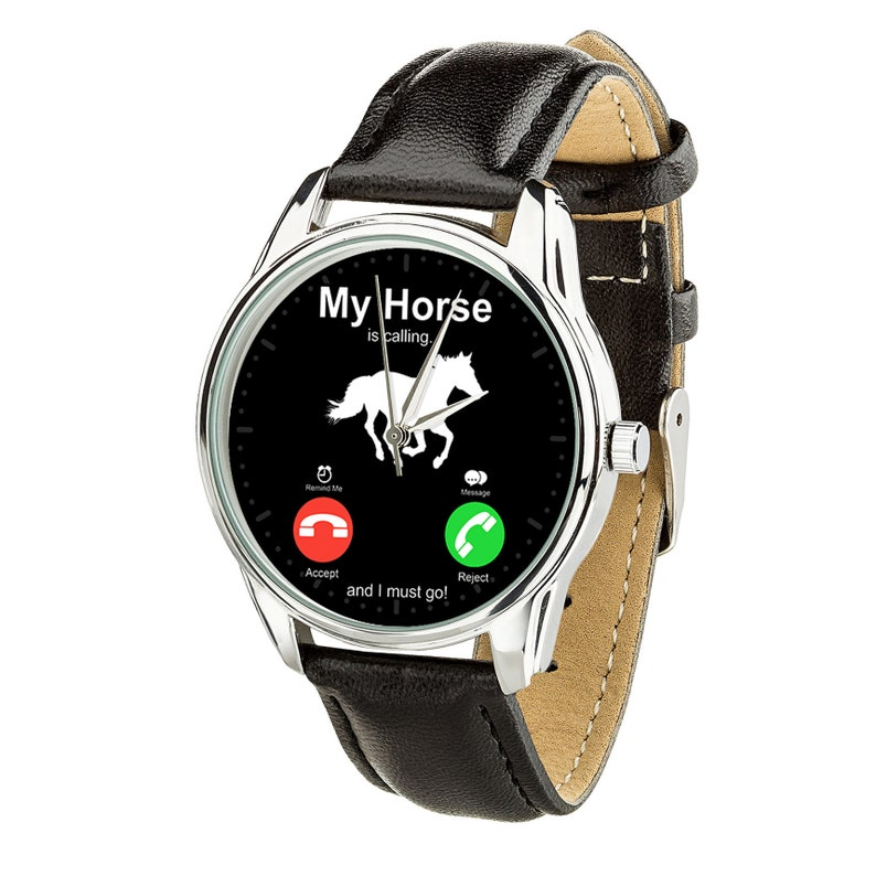My Horse is Calling... Watch  Horse Lovers Gift Watch for Men Black